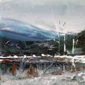 Artist's Private Collection - Sandgate Vermont: Winter pond, acrylic landscape