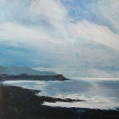 "AVAILABLE 16"" x 20"" - Makahuena Point on Kaua'i: acrylic landscape"