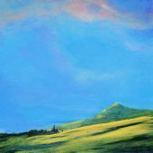 Sold to Private Collector - Po'ipu Kaua'i: Inland view, Hawai'i - acrylic landscape
