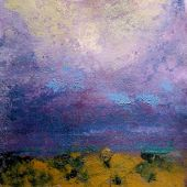 Sangre de Cristo Mountains, Northern New-Mexico: Summer Storm in the Foothills - acrylic landscape