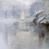 Artist's Private Collection - Merced River: Yosemite, California in Winter - acrylic landscape