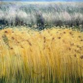 Sold to Private Collector - Santa Cruz, California: Grasses - Pastel Landscape
