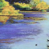 Sold to Private Collector - Santa Cruz, California - Pastel Landscape