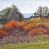 Sold to Private Collector - Stanford Hills, California: Fall - Pastel Landscape