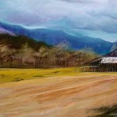 Sandgate, Vermont: Barn - Pastel Landscape