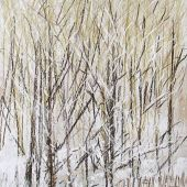 "AVAILABLE Framed 14"" x 18.75"" - Sandgate, Vermont: Winter forest - Pastel Landscape"