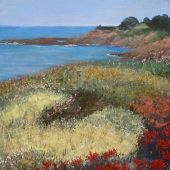 Artist's Private Collection - Mendocino, California: Little River - Pastel Landscape
