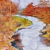 Artist's Private Collection - Vermont: Fall, Green River