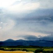 """AVAILABLE Framed 13"""" x 16"""" - Taos, New Mexico: Summer storm"""